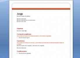 Modelo Sencillo De Curriculum Para Descargar