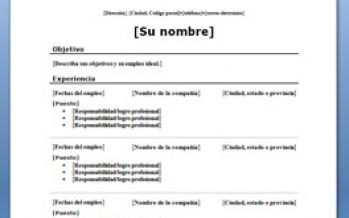 Curriculum Vitae Con Modelo Cronologico Plantillas Y Ejemplos